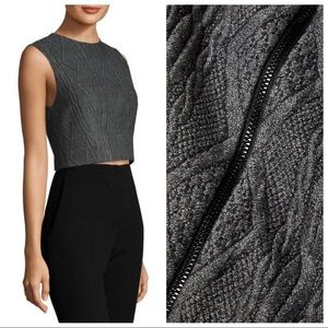 Alice + Olivia Kylnn Cable Knit Crop Top